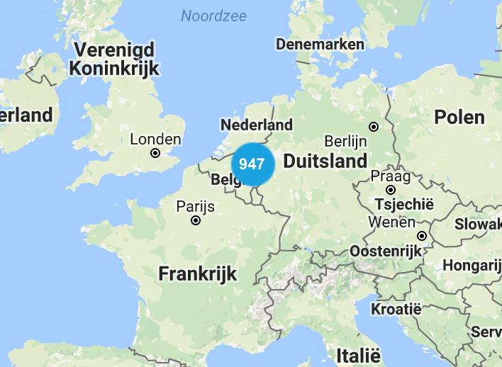 オランダ国内には947店舗