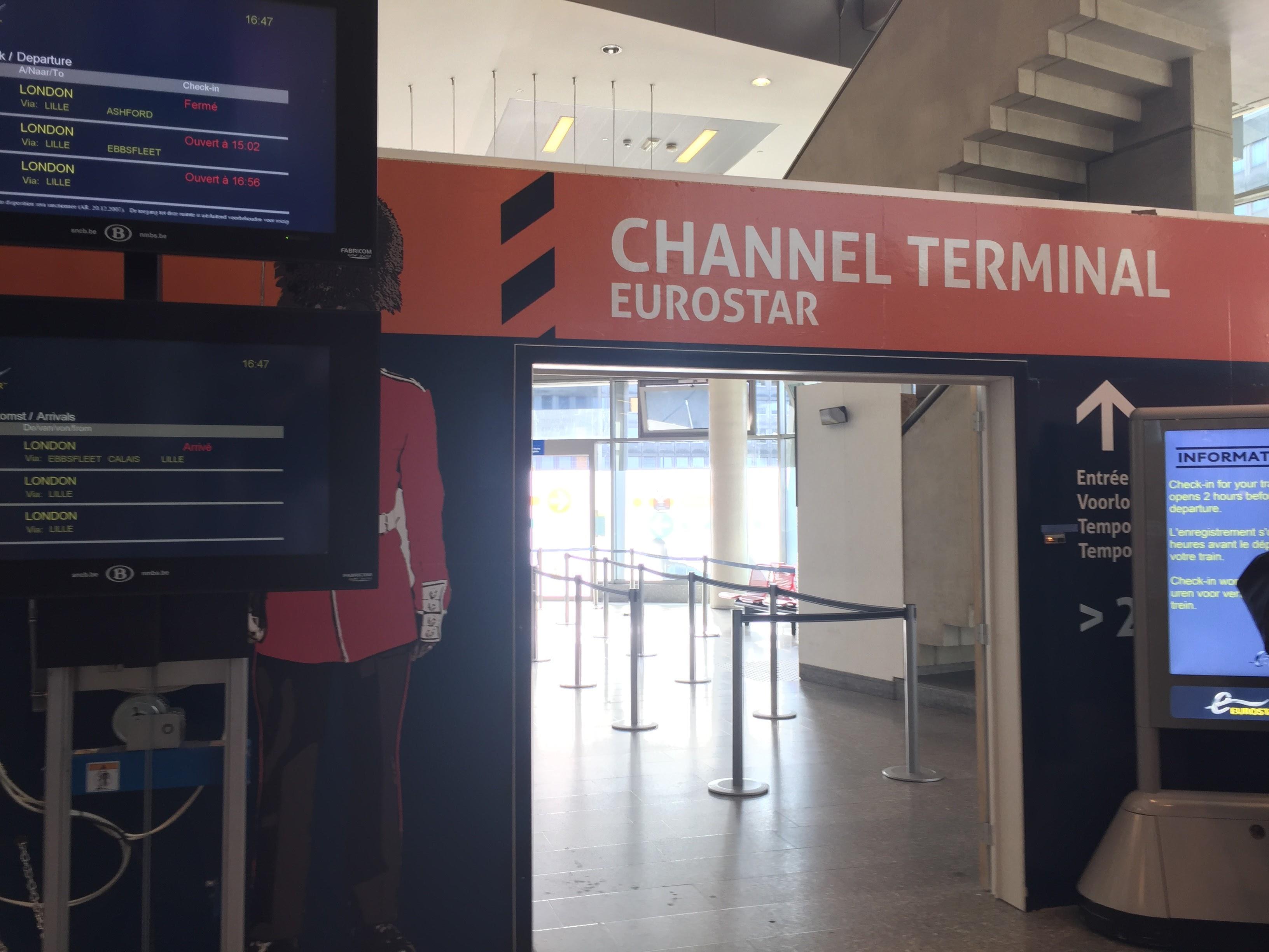 Eurostarの入り口に到着