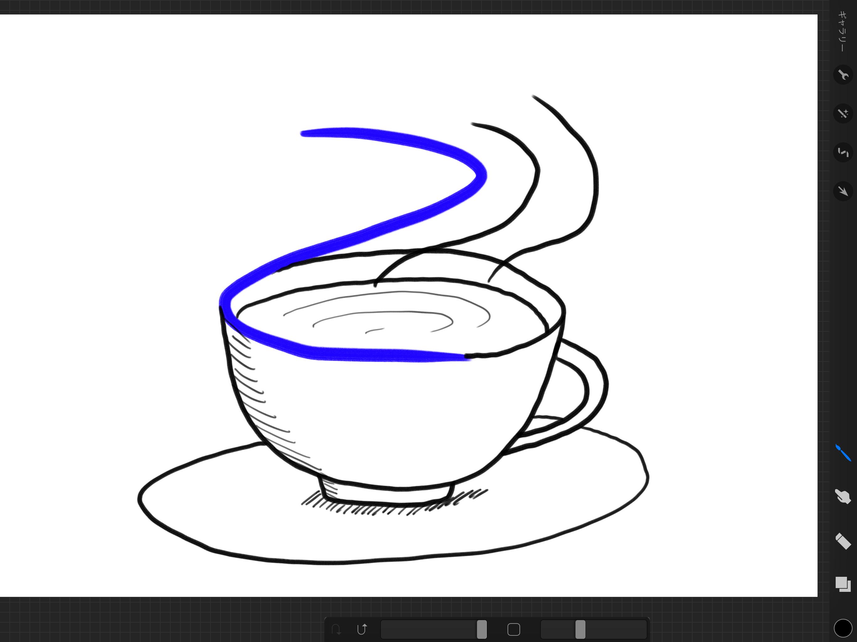 湯気のたつカップ