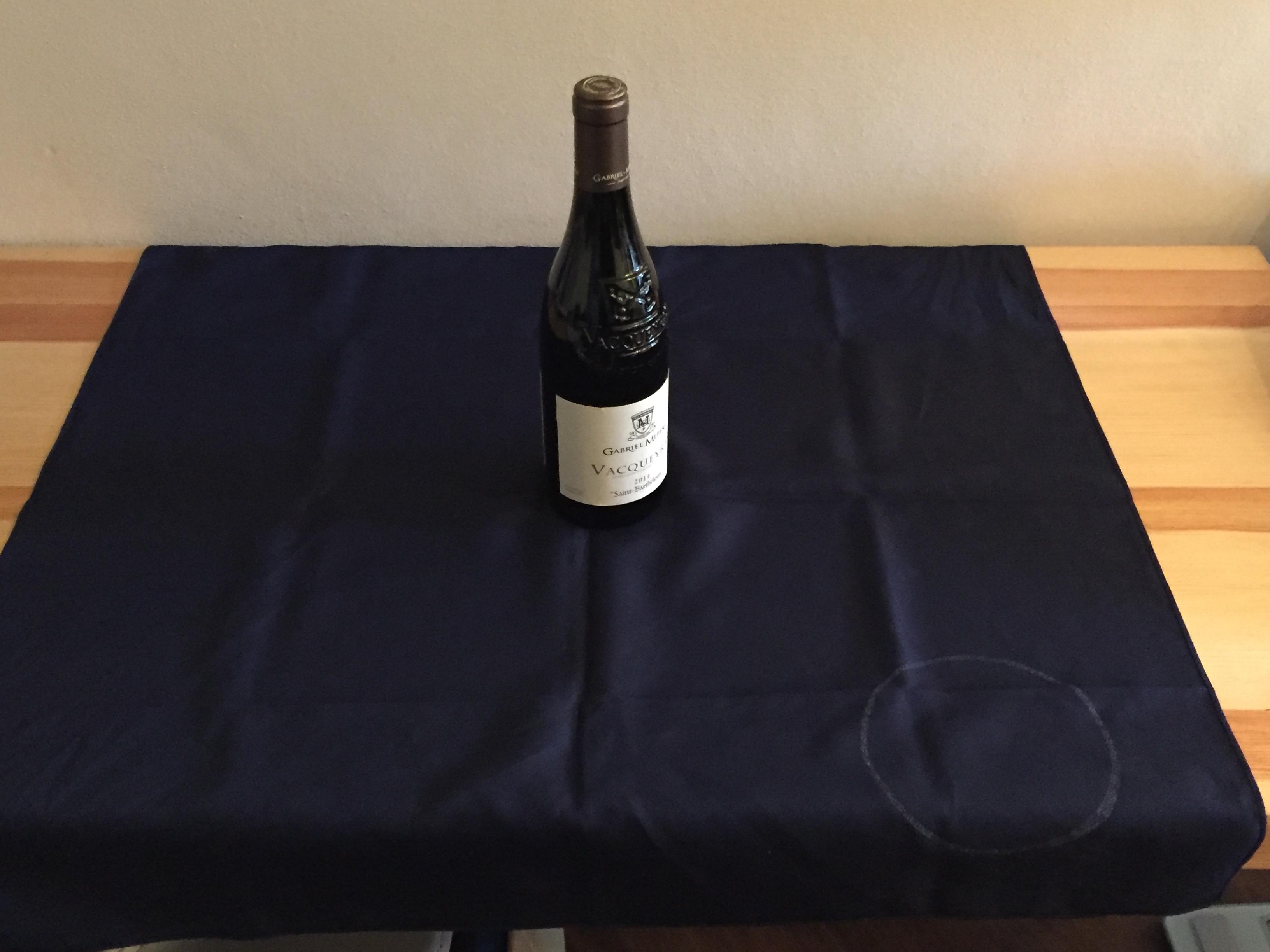 風呂敷とワイン