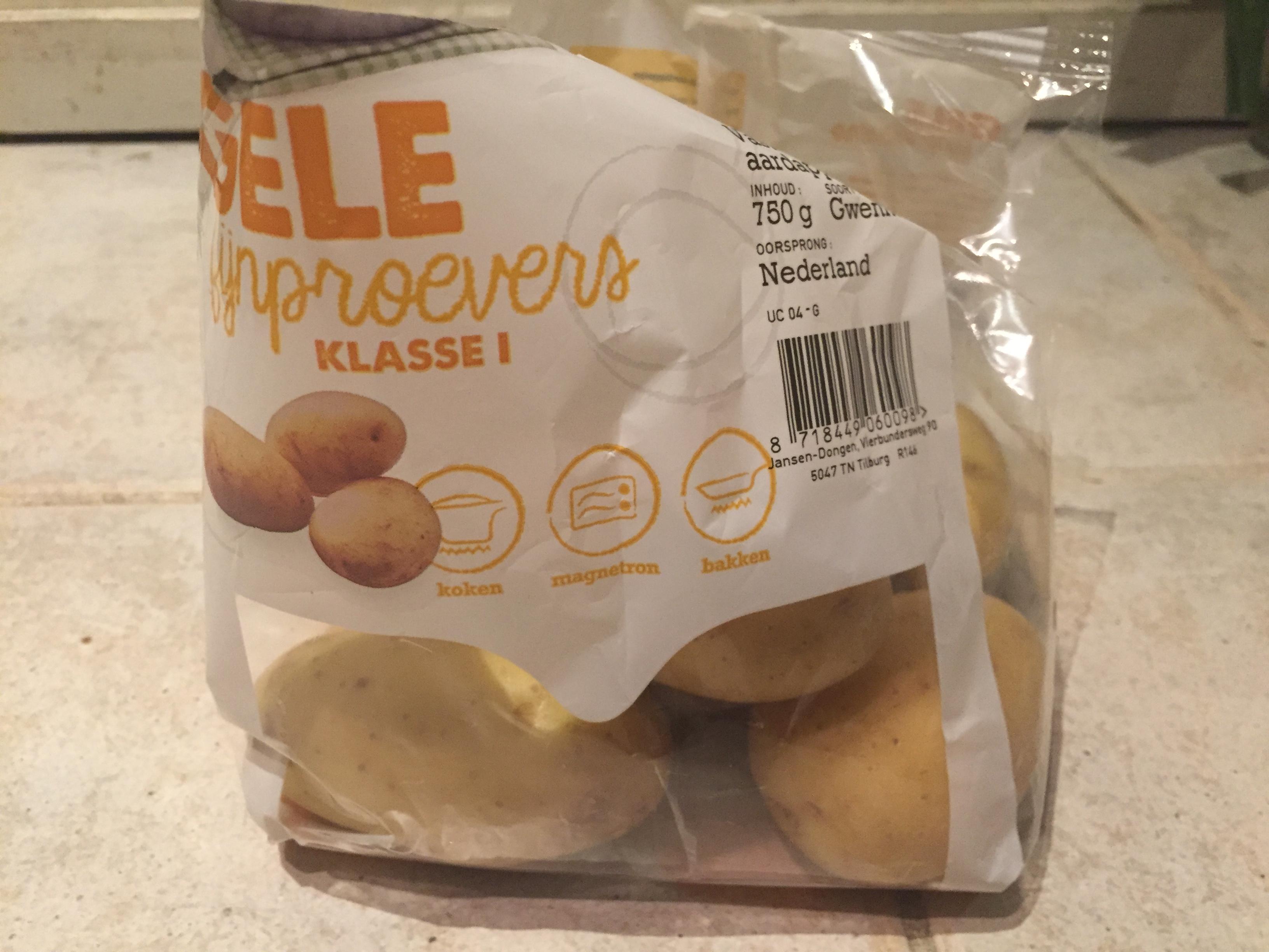 スーパーで購入したジャガイモ