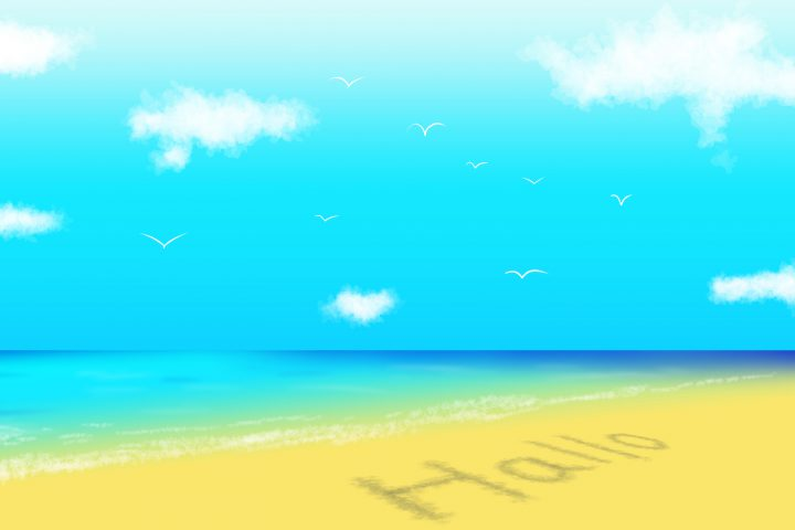 Clip Studioで海の背景イラストを簡単に描く方法!