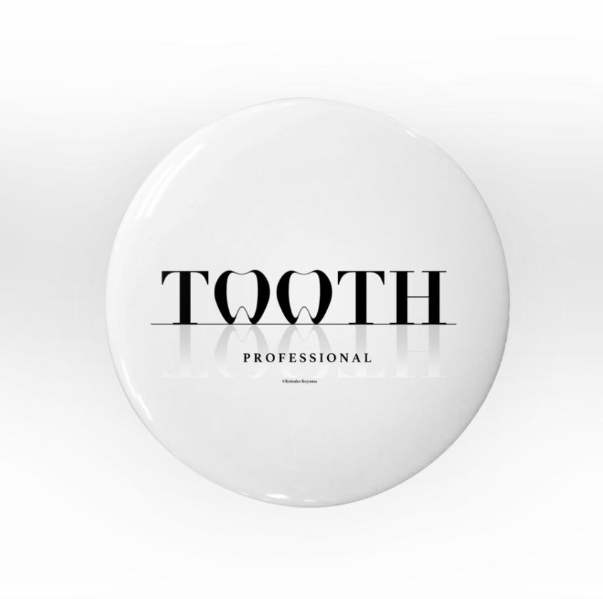 缶バッヂ 歯 tooth
