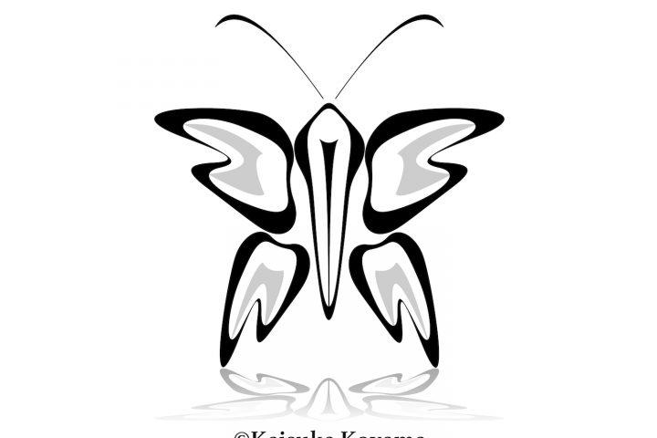歯をアートする試み・歯をテーマにした蝶々のデザイン
